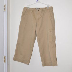 Mountain Khakis Cargo Pants Capris Women 16 Beige